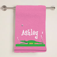Girly Alligator Bath Towel