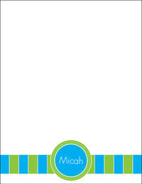 Blue Green Large Notepad