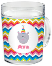 Birthday Hippo Clear Acrylic Mug