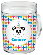 Birthday Panda Clear Acrylic Mug