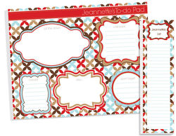 Modern Flowers To Do Pad Set