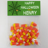 Spiderweb Green Candy Bag Toppers