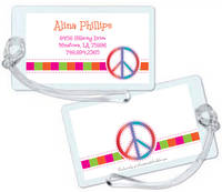 Retro Peace Luggage Tag