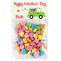 Heart Truck Valentine Candy Bag Toppers