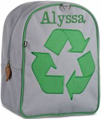 Recycle Small Embroidered Backpack