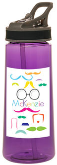 Bright Moustaches Water Bottle