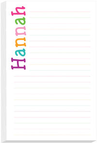Letter Hues Girl Note Pad