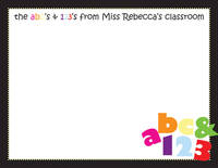 abc123 Flat Notecard