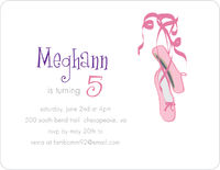Ballerina Shoes Birthday Invitation