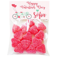 Bicycle for Two Valentine Candy Bag Toppers
