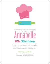 Chef Hat Birthday Invitation