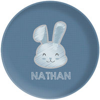 Bunny Chalk Blue Plate