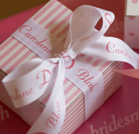 "7/8"" Textured Personalized Ribbons"