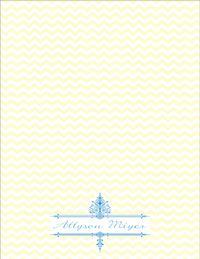 Ornate Chevron Large Notepad