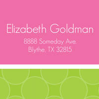 Fuchsia Lime Dots Return Address Label