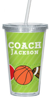 Coach Sports Clear Acrylic Tumbler