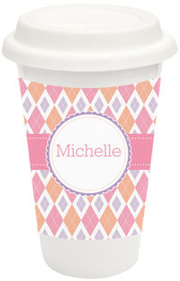 Argyle Love Covered Ceramic Tumbler