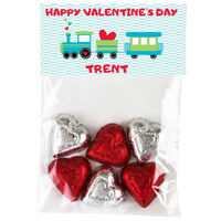 Heart Train Valentine Candy Bag Toppers