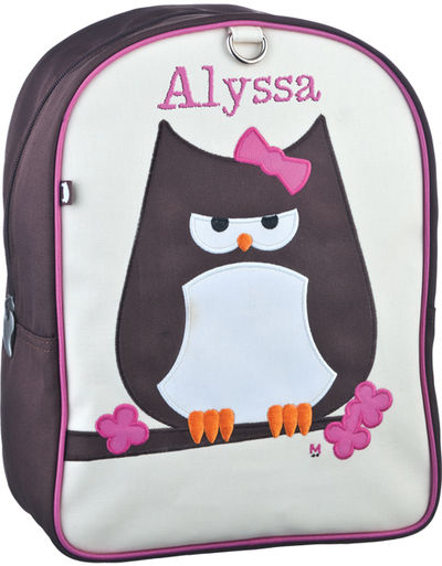 Papar Owl Small Embroidered Backpack