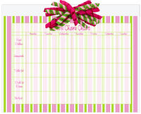 Fun Stripes Korker Calendar Pad