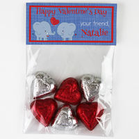 Elephants Love Candy Bag Toppers
