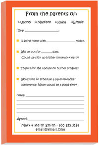 Orange Excuse Pad