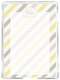 Grey Diagonals Memo Sheets