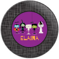 Ghoulish Friends Plate