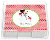 Candy Cane Snowman Coasters
