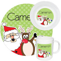 Holly Jolly Trio Melamine Set