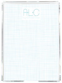 Blue White Crosshatch Memo Sheets