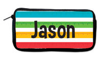 Ruler Stripes Neoprene Pencil Case