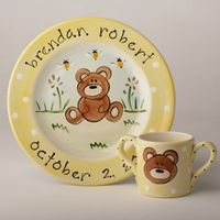 Bear Hand Painted Plate SL12P