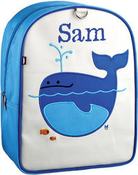 Lucas Whale Small Embroidered Backpack