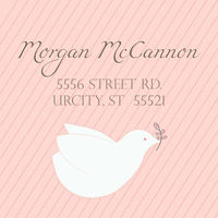 Dove Pink Return Address Label
