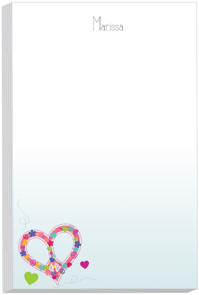 Love Peace Note Pad