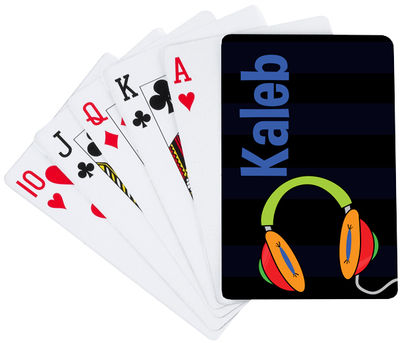 Awesome Headphones Playing Cards