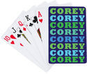 Name in Brights Boy Playing Cards