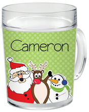 Holly Jolly Trio Clear Acrylic Mug
