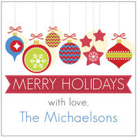 Holiday Ornaments Gift Stickers