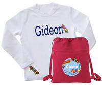 Cool Skateboard Tee & Drawstring Bag
