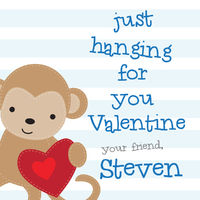 Monkey Love Valentines Stickers