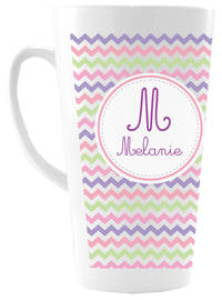 Girly Chevron Ceramic Coffee Mug