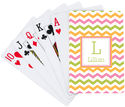 Colorful Chevron Playing Cards